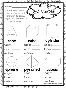 10 2 d and 3 d shapes worksheets preschool 1st grade math worksheets. Black Bedroom Furniture Sets. Home Design Ideas