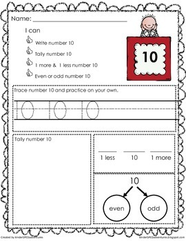 10-20 Big Numbers Pack- Common Core Aligned