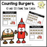 10 & 20 Frame Task Cards | Counting Burgers
