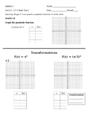 10.3 Day 2 Notes - Graphing Quadratics in Vertex Form