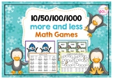 10/50/100/1000 More and Less Math Games