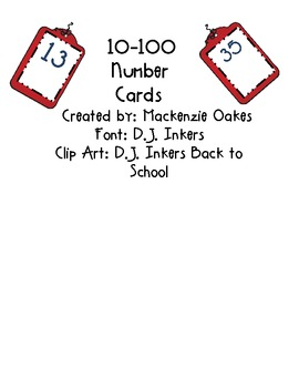 10-99 Number Cards
