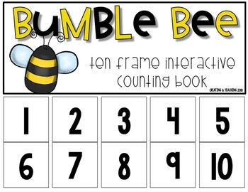 10 AND 20 Frame Counting Book Bundle