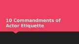 10 Actor Commandments