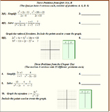 """10 Algebra 2 """"Rational Functions"""" Chapter Tests and Quizze"""