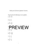 10 Algebra worksheets bundle