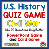 FREEBIE: 10 Answers-Quiz Game-CIVIL WAR-RECONSTRUCTION - Board & PPT Versions