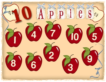 10 Apples - Ten Frame Number Recognition Game