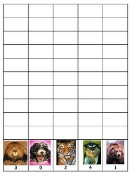 The Apples on top of animals GOOD DOCTOR math cut glue graph COMMON CORE ESL