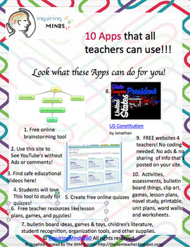 10 Free Apps that all teachers can use!