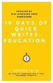 10 Argumentative AP English Language Quick Write Prompts -