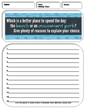 10 Argumentative/Persuasive Writing Prompt Sheets Pack 8