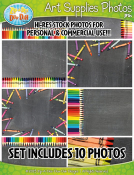 10 Art Supplies Stock Photos Pack Set 1 — Includes Commerc