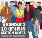 *10 Artists Famous Artists Biography Sketch Notes Activity