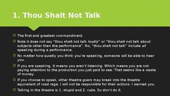 10 Audience Commandments