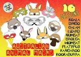 10 Australian Animal Eye / Face Masks - Prop for Creative Role Play