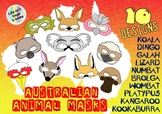 10 Australian Animal Eye / Face Masks - Prop for Creative Role Play