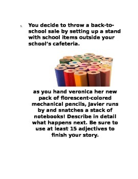 10 BACK-TO-SCHOOL WRITING PROMPTS AND BELL-RINGERS