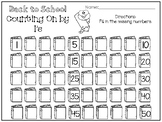 10 Back to School Counting On Worksheets. Preschool-1st Grade Math.