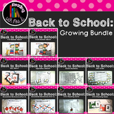 10 Back to School Math and Literacy Growing Center Bundle