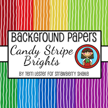 10 Background Papers Candy Stripe Brights 12x12 for personal and commercial use