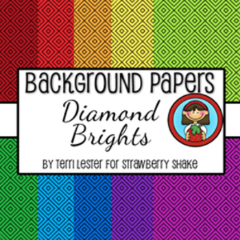 10 Background Papers - Diamond Brights - 12x12 - for perso