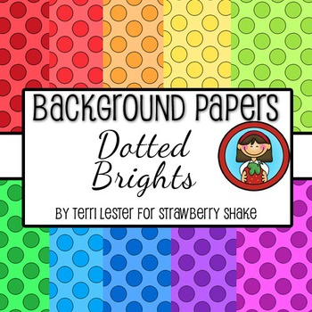 10 Background Papers - Dotted Brights - 12x12 - for personal and commercial use