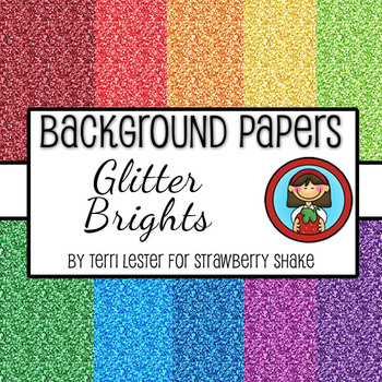 10 Background Papers - Glitter Brights - 12x12 - for perso