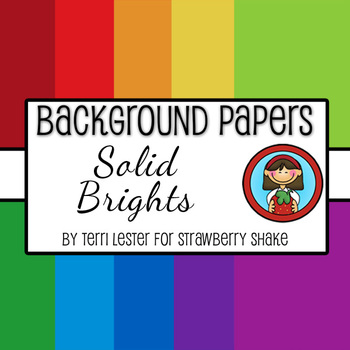 10 Background Papers - Solid Brights - 12x12 - for persona