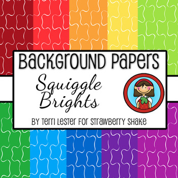 Background Papers - Squiggle Brights 12x12 - for personal