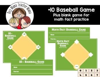 +10 Baseball Math Fact Game