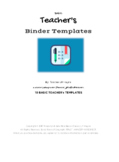 10 Basic Teacher's Templates by JM Kayne