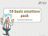 10 Basic emotions, interactive vocabulary book