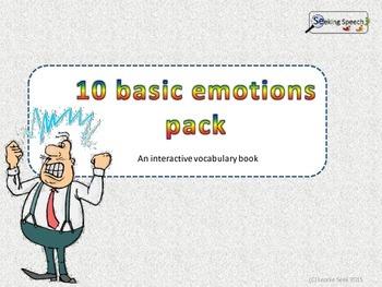 10 Basic emotions, interactive vocabulary book