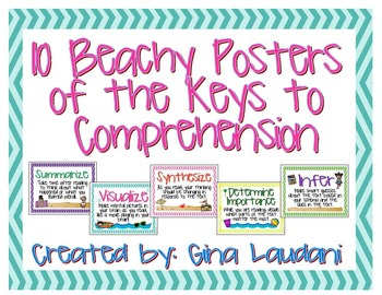 10 Beachy Posters of the Keys to Comprehension