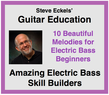 Bass Guitar - 10 Familiar Melodies for Electric Bass Beginners