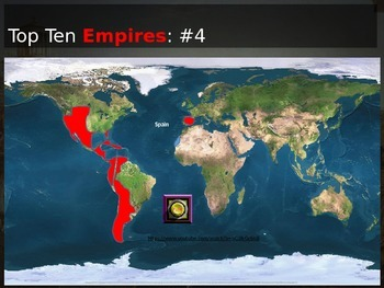10 Biggest Empires in History: Interactive PPT with handouts, video links & more