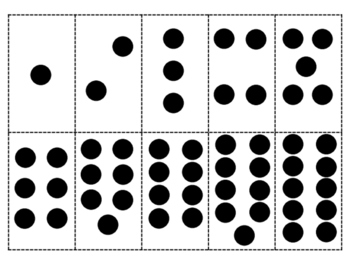 10 Black Dots Counting to Ten