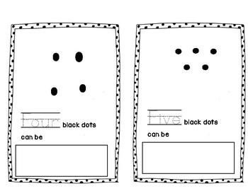 10 Black Dots book, number words