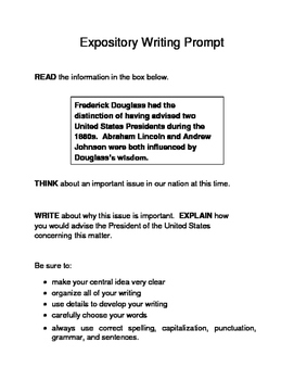 10 Black History Month (Male) Expository Writing Prompts STAAR 3rd 4th 5th