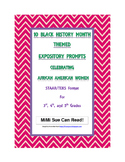 10 Black History Month (Female) Expository Writing Prompts STAAR 3rd 4th 5th