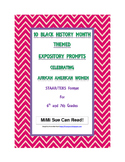 10 Black History Month (Female) Expository Writing Prompts STAAR 6th 7th Grades