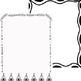 10 Black & White Doodle, Full Sheet Frames