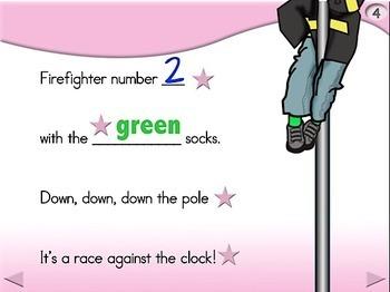 10 Brave Firefighters - Animated Step-by-Step Poem - Regular