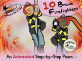 10 Brave Firefighters - Animated Step-by-Step Poem - Regular