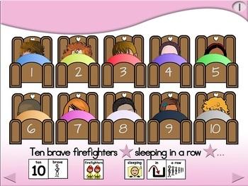 10 Brave Firefighters - Animated Step-by-Step Poem SymbolStix