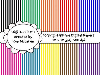 10 Bright Striped Digital Backgrounds