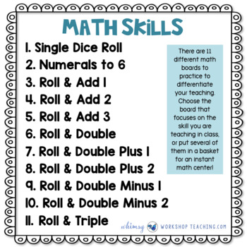 10 Build A Bug Math and Literacy Game (from Roll Draw Write Full Year Bundle)