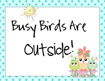 10 Busy Bird Away and Testing Signs