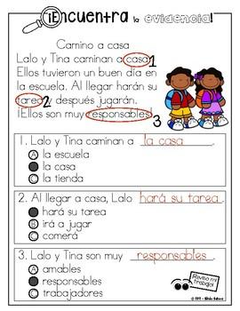 10 CENTROS DE COMPRENSION DE LA LECTURA  (LITERACY CENTERS IN SPANISH)